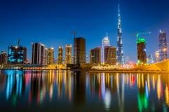 Dubai skyline Stock Image
