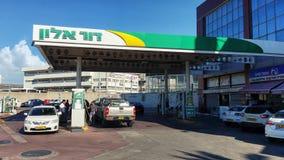 Dukhifat-Tankstelle in Rishon LeZion Stockbilder