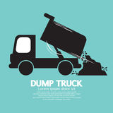Dump Truck Carried And Unloading Loose Material Royalty Free Stock Images