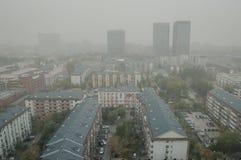 DunstLuftverschmutzung in Peking Lizenzfreie Stockbilder