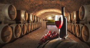 Durée toujours avec le vin rouge Image libre de droits