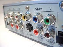 DVD DIVX Player Back Stock Images