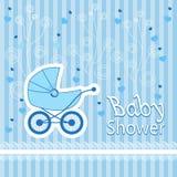Dziecko urodzony wzór na błękitnym tle Fotografia Stock