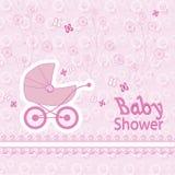 Dziecko urodzony wzór na różowym tle Zdjęcie Stock