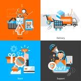E-commerce Icons Set Royalty Free Stock Photography