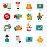 E-commerce Icons Set Royalty Free Stock Photos
