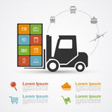 E-commerce infographic Royalty Free Stock Photography