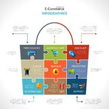 E-commerce Polygonal Infographics Stock Images