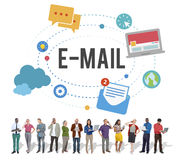 E-mail Global Communications Connection Internet Online Concept Royalty Free Stock Image
