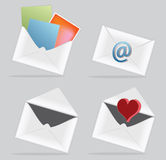 E-mail icon with envelope Royalty Free Stock Photo