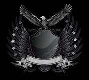 Eagle and Shield B&W Insignia Royalty Free Stock Photos