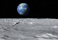 Earth moon surface Royalty Free Stock Photos