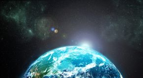 Earth from outer space Stock Images