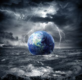 Earth in the storm Royalty Free Stock Photos