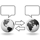 East meets West translation communication Royalty Free Stock Photo