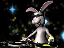 Easter Bunny DJ Royalty Free Stock Images
