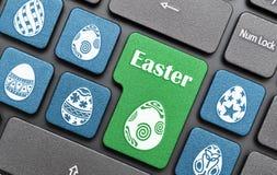 Easter egg key on keyboard Royalty Free Stock Image