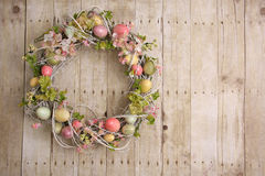 Easter egg wreath Royalty Free Stock Photo