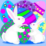 Easter eggs and bunnies Stock Photo