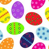 Easter eggs repetition Royalty Free Stock Image