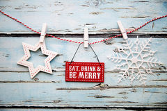 Eat drink and be merry sign Stock Image