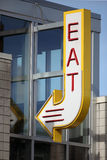Eat Sign Stock Photography