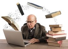 Ebook for aged man Royalty Free Stock Images