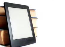 Ebook and regular books Stock Photography