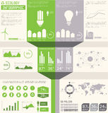 Ecology info graphics collection, Stock Image