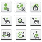 Ecommerce icons set Stock Photos