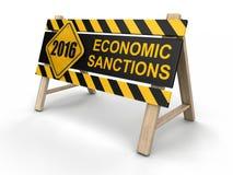 Economic sanctions sign Stock Images