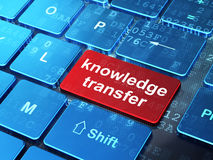 Education concept: Knowledge Transfer on computer Stock Photos