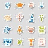 Education Icon Sticker Set Stock Photos