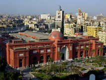 Egypt – Cairo, Egyptian Museum panoramic view Stock Photography