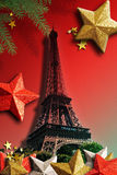 The Eiffel Tower for Xmas. Royalty Free Stock Photo
