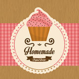Eigengemaakte cupcake, vector Stock Foto