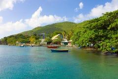 Ein ruhiger Hafen in den Karibischen Meeren Stockbild
