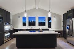 Eine moderne Küche  Lizenzfreies Stockfoto
