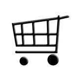 Einkaufswagen. Stockfoto
