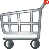 Einkaufswagenikone Stockbilder