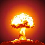 Ejemplo de la explosión nuclear Imágenes de archivo libres de regalías