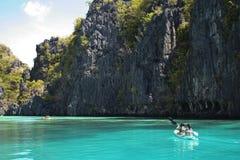 el nido kayak adventure holiday philippines Royalty Free Stock Photo