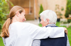 Elderly care Royalty Free Stock Photography