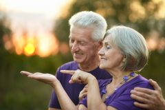 Elderly couple in love Stock Photo