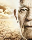 Elderly man's face Stock Photo
