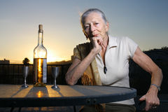 Elderly woman Royalty Free Stock Photography