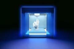 Electronic three dimensional plastic printer, 3D printer, 3D printing Royalty Free Stock Images