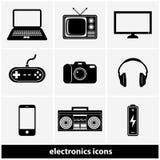 Electronics Icon Set Royalty Free Stock Images