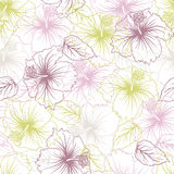 Elegance seamless pastel flower pattern Stock Photo