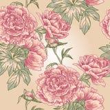 Elegance Seamless peony pattern Royalty Free Stock Image